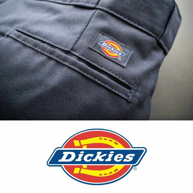 Dickies logo with grey Dickies pants