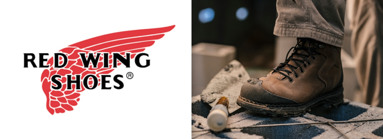 Red Wing Shoes logo with Red Wing Boots