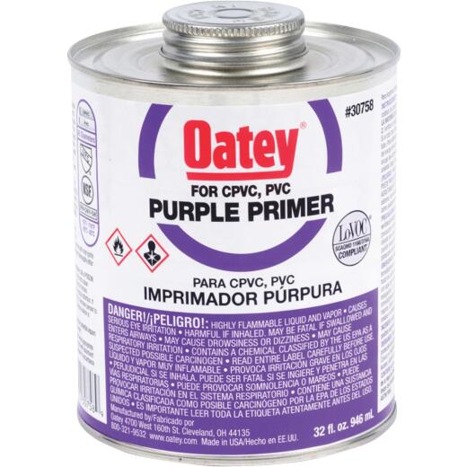 Oatey 32 Oz. Purple Pipe and Fitting Primer for PVC/CPVC