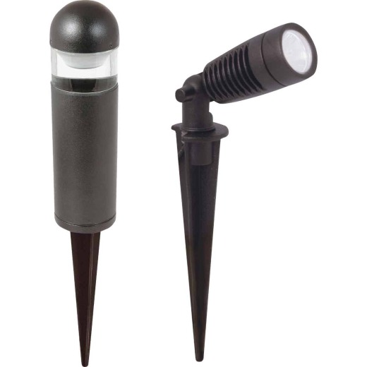 Moonrays LED Black 2-Spotlight & 4-Bollard Path Light Kit